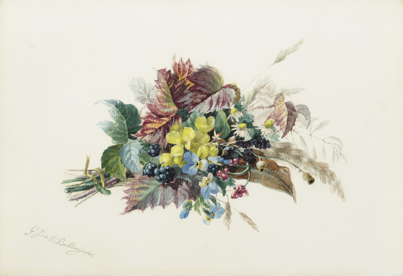 Image | Gerardine van de Sande Bakhuyzen | A still life with flowers
