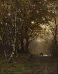 Julius Jacobus van de Sande Bakhuyzen | Boslaantje | Kunsthandel Bies