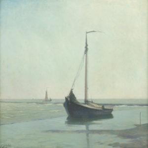 Anthonie Pieter Schotel | Botter bij Enkhuizen | Kunsthandel Bies