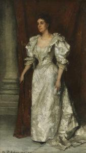 Thérèse Schwartze | Portret van Christine Auguste Mayer-Leiden | Kunsthandel Bies