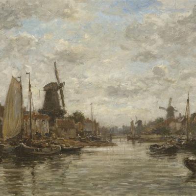 Hobbe Smith | Gezicht op Zaandam | Kunsthandel Bies
