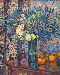 Theo van Rysselberghe | Mimosas, roses et khakis | Kunsthandel Bies