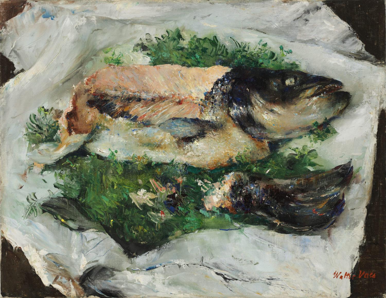 Walter Vaes | Aangesneden zalm | Kunsthandel Bies