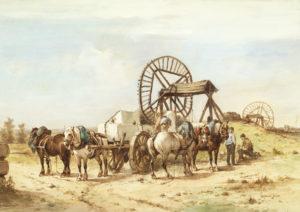 Wouter Verschuur Jr | Paarden bij een steengroeve | Kunsthandel Bies