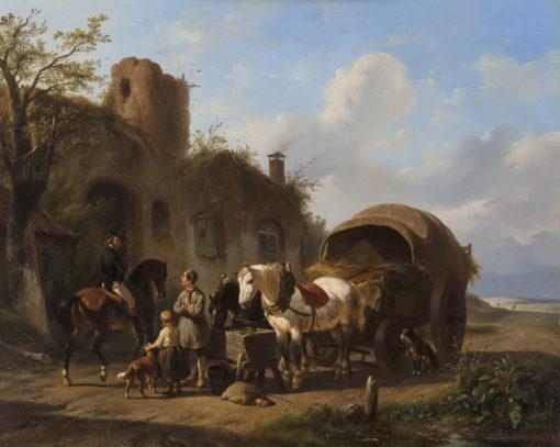 Wouterus Verschuur | De pleisterplaats | Kunsthandel Bies