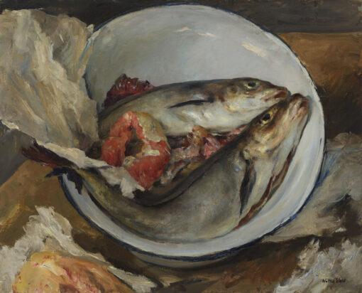 Walter Vaes | Twee vissen in een witte kom | Kunsthandel Bies