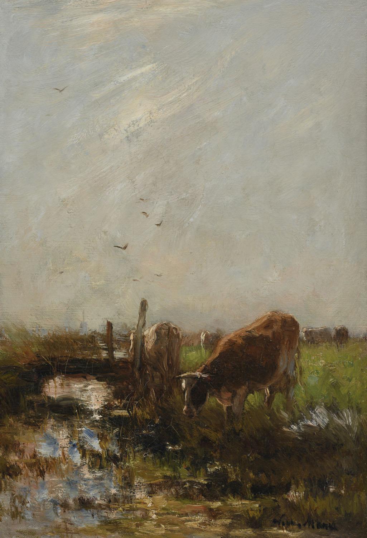 Willem Maris | Watering cows | Kunsthandel Bies | Bies Gallery
