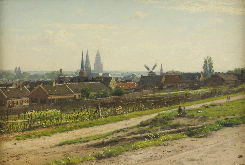 Willem Jan Willemsen | Gezicht op Arnhem | Kunsthandel Bies