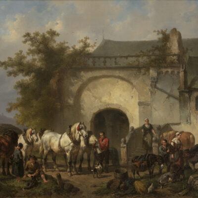 Wouterus Verschuur | Paarden en figuren bij de Michaelskapel in Xanten